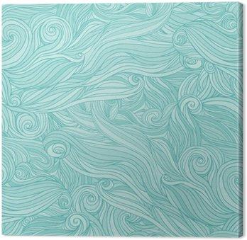 Obraz na Plátně Bezešvé abstraktní vzor, zamotat vlnité vlasy pozadí