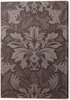 Obraz na Plátně Bezešvé damaškové vzorek