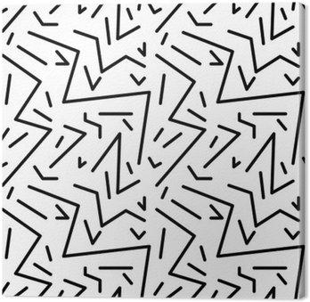 Obraz na Plátně Bezešvé geometrický vzor vinobraní v retro stylu 80. let, Memphis. Ideální pro konstrukci materiálu, papíru a tisku webových stránek pozadí. EPS10 vektorový soubor