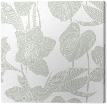 Obraz na Plátně Bezešvé květinový vzor