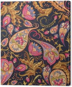Obraz na Plátně Bezešvé Paisley vzor
