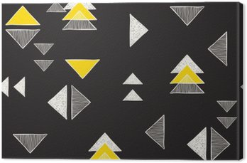 Obraz na Plátně Bezešvé ručně kreslených trojúhelníky vzorem.