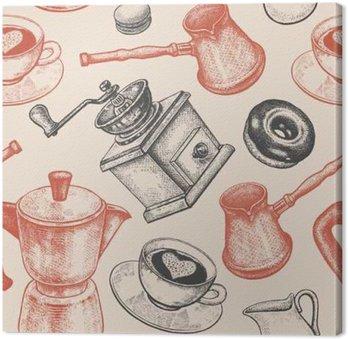 Obraz na Plátně Bezešvé vzor je především o kávě.
