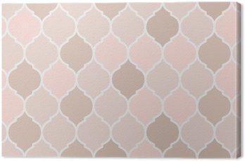 Obraz na Plátně Bezešvé vzor růžové dlaždice, vektor