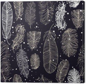 Obraz na Plátně Bezproblémové vzorek s krásným peřím