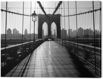 Obraz na Plátně Brooklyn Bridge, Manhattan, New York City, USA