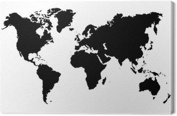 Obraz na Plátně Carte du monde