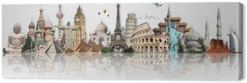 Obraz na Plátně Cestovat po světě památky koncept