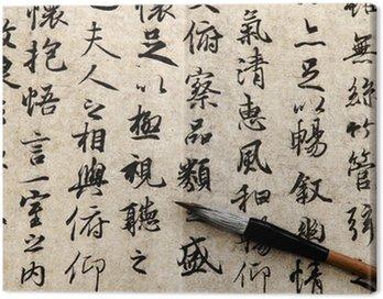 Obraz na Plátně Čínská kaligrafie na béžové pozadí