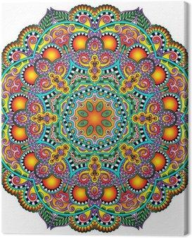Obraz na Plátně Circle krajka ornament, kolo okrasných geometrický ubrousek vzor