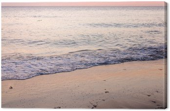 Obraz na Plátně Coucher de soleil sur la plage
