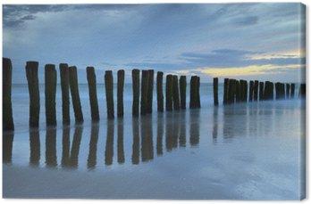 Obraz na Plátně Crépuscule sur la plage de Calais