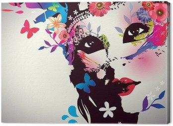 Obraz na Plátně Dívka s maskou / Vector illustration