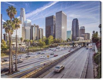Obraz na Plátně Downtown Los Angeles, Kalifornie Panoráma