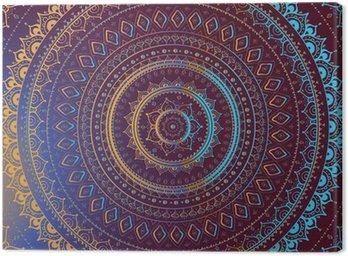 Obraz na Plátně Gold Mandala. Indická dekorativní vzor.