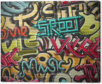 Obraz na Plátně Graffiti pozadí