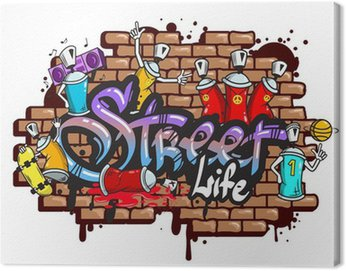 Obraz na Plátně Graffiti slovní znaky složení
