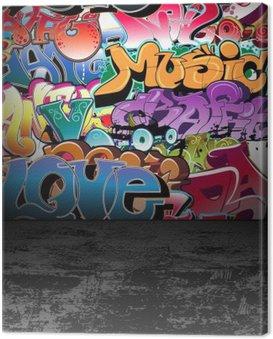 Obraz na Plátně Graffiti stěna městské street art painting