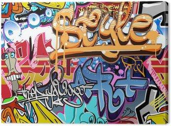 Obraz na Plátně Graffiti stěna. Urban art vektor pozadí. Bezešvé textury