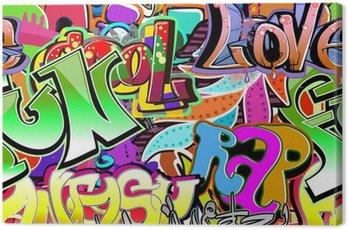Obraz na Plátně Graffiti stěna. Urban art vektor pozadí. Bezešvé vzor