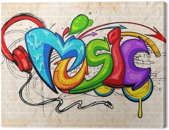 Obraz na Plátně Graffiti styl hudby na pozadí