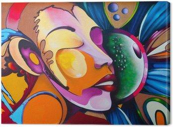 Obraz na Plátně Graffiti tvář