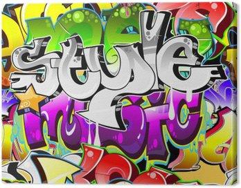 Obraz na Plátně Graffiti Urban Art pozadí. Bezešvé provedení
