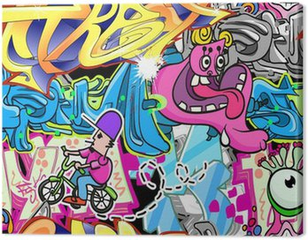 Obraz na Plátně Graffiti Urban Art Vector pozadí