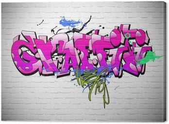 Obraz na Plátně Graffiti wall background, urban art