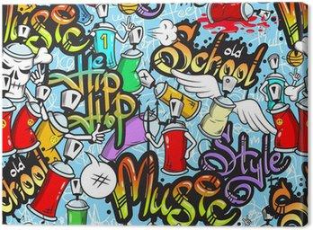 Obraz na Plátně Graffiti znaky bezešvé vzor