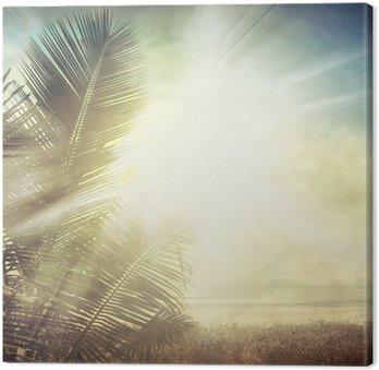 Obraz na Plátně Grunge palm-9