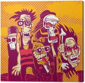 Obraz na Plátně Grunge pozadí s halloween osobou, na obalu CD