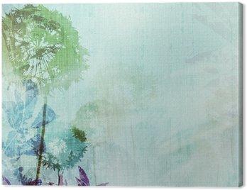 Obraz na Plátně Grunge pozadí s pampeliškami