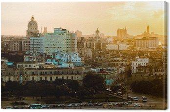 Obraz na Plátně Havana (Habana) v západu slunce, Kuba