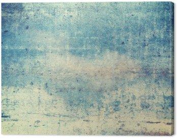 Obraz na Plátně Horizontálně orientované modré barevné grunge background