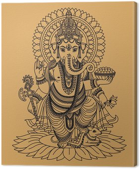 Obraz na Plátně Indian bůh Ganesha