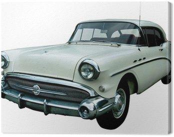 Obraz na Plátně Klasická bílá retro izolované auto