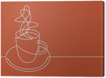 Obraz na Plátně Kontinuální perokresba šálek kávy