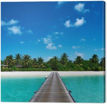 Obraz na Plátně Krásná pláž s molem