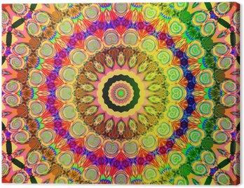 Obraz na Plátně Krásný barevný mandala