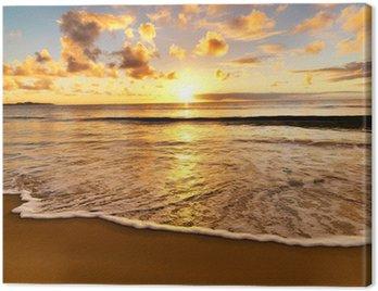 Obraz na Plátně Krásný západ slunce na pláži