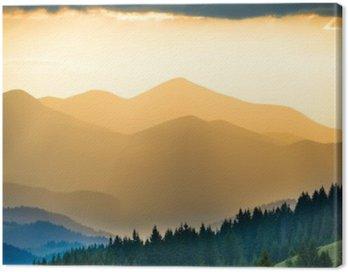 Obraz na Plátně Krásný západ slunce v horách