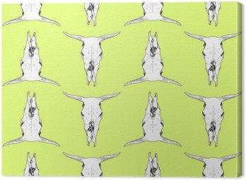 Obraz na Plátně Kráva lebka vzor