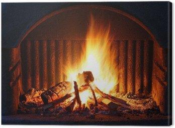 Obraz na Plátně Krb s ohněm