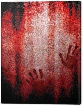 Obraz na Plátně Krvavé ruční tisk na zeď