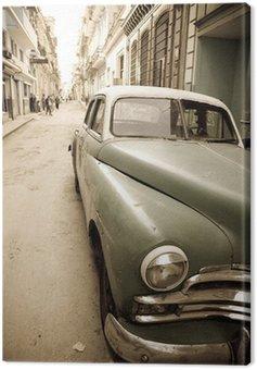 Obraz na Plátně Kubánská starožitné auto
