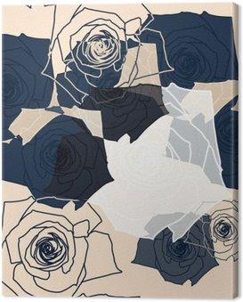 Obraz na Plátně Květinový vzor bezešvé, EPS 10