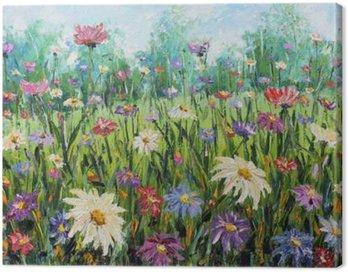 Obraz na Plátně Letní divoké květiny, olejomalba