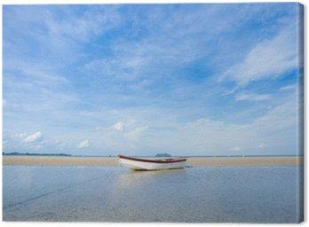Obraz na Plátně Malý člun na pláži