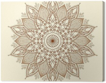 Obraz na Plátně Mandala. Krásná ručně tažené květina.